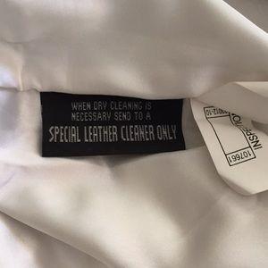 Wilsons Leather Skirts - Vintage Wilson's White Genuine Leather Mini Skirt
